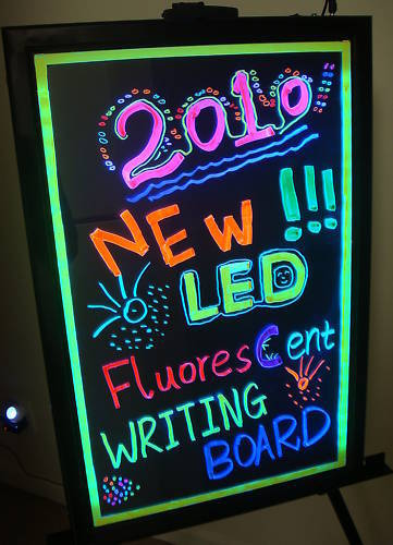 led writing board has a great instant eyeball catching effect being